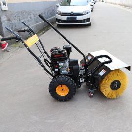 捷克1米滾刷掃雪機 多功能園林綠化自走式除雪掃雪機