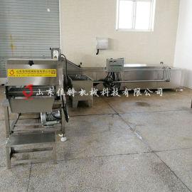 豇豆速冻生产线需要几台设备, 大型豇豆漂烫机