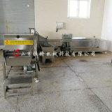 豇豆速凍生產線需要幾臺設備, 大型豇豆漂燙機