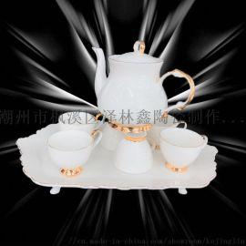 简约镶金陶瓷骨质瓷水具003