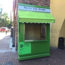 商业街时尚环保商品售卖亭