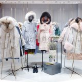 欧美女装品牌西树影黛19款带毛领羽绒服一手资源