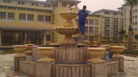 公共广场主题雕塑喷泉造型石材制品