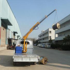 1吨液压起重机 小货车改装微卡折臂吊机