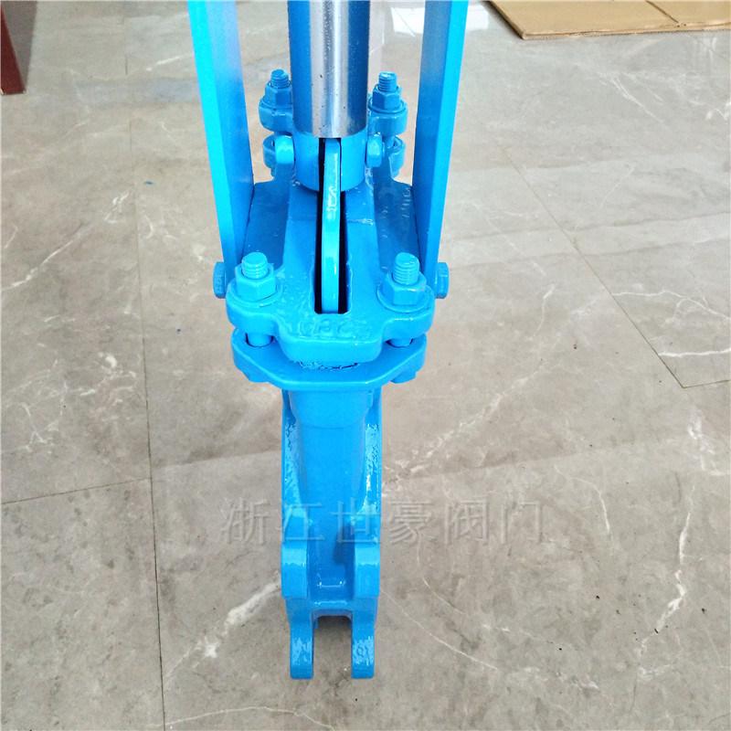 梅花式刀閘閥 大支架刀型閘閥 對夾式閘板閥