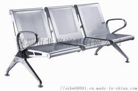 Bw095三人位不鏽鋼排椅、銀行用三人鋼架排椅