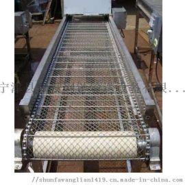 304不锈钢支轴链网带输送机