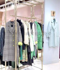 深圳品牌折扣女装诱货羊毛外套直播同款货源