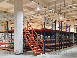深圳家具阁楼货架钢结构多层钢板货架