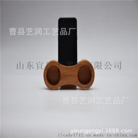 工厂直销懒木质人手机支架床头办公室手机座