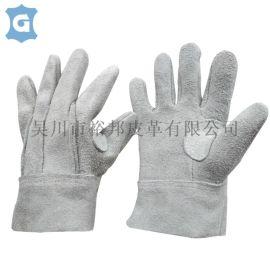 牛皮革电焊劳保手套加厚耐磨焊工手套焊接防烫隔热短款