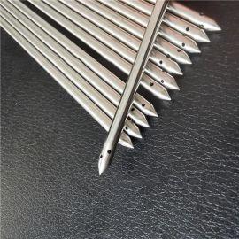 医疗微细小直径不锈钢毛细管折弯磨尖缩尖打孔喷沙