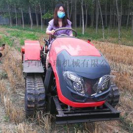 **四缸大**履带拖拉机 农用旋耕机 丘陵耕地机