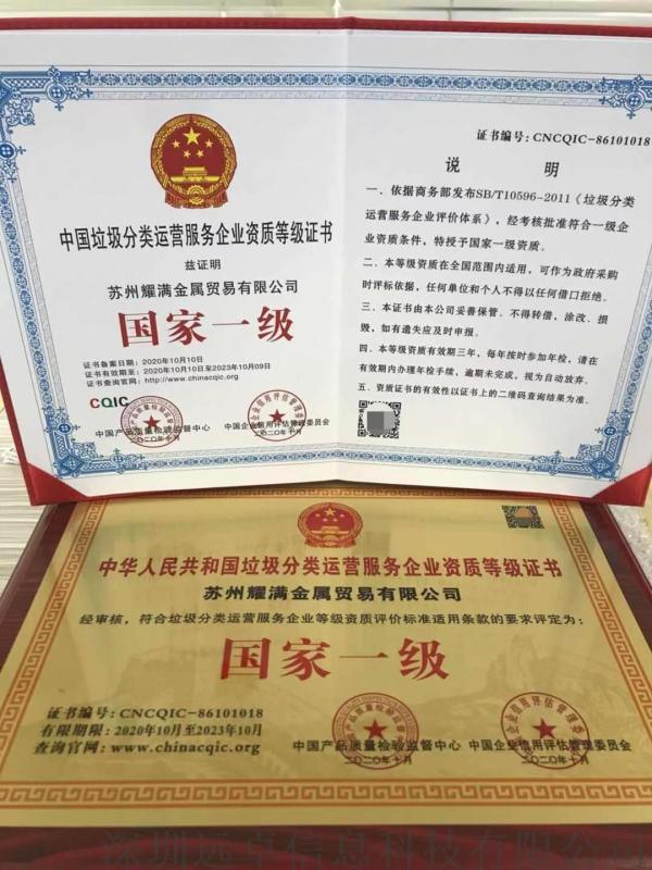 生活垃圾清运处理资质证书申报需要的资料