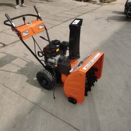沃特手推扫雪机 汽油抛雪机 毛刷式小型雪地清理机