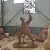 佛山爱国主题雕塑玻璃钢仿铜人物雕塑