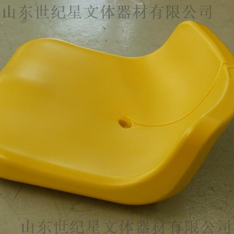 看臺座椅 中空吹塑座椅 體育館看臺矮靠背塑料座椅