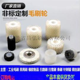毛刷辊 异型植毛 玻璃清洗机毛刷辊