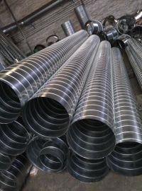 螺旋管厂家承接广东排气除尘设备螺旋风管加工