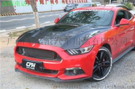 野马Mustang改装发动机引擎透明散热碳纤机盖