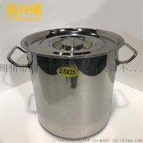 304不鏽鋼湯桶單底復底加厚加高桶鍋滑輪密封