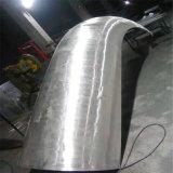 收银台造型木纹包柱铝单板 门头灰色包柱铝单板