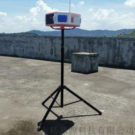 微波雷达语音警示器便携式led屏声光语音报警器