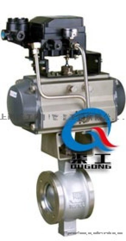 VQ647氣動V型球閥、氣動V型調節球閥