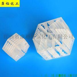 塑料填料兰-帕克环 PP网筛环散堆塔填料厂家