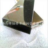 拉丝不锈钢黑钛金管100*50*2.0拉丝矩形管