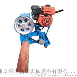 双管软管吸粮机 水泥粉双驱上料机LJ1弹簧抽料机