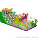 四川綿陽廣場經營的兒童充氣滑梯城堡款式新生意好