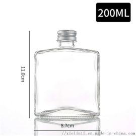 玻璃瓶可定制logo饮料玻璃瓶厂家