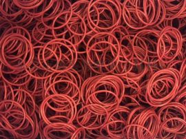 现货供应食品级红色O型圈耐高温O形密封圈装饰专用