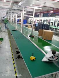 生产不锈钢流水线非标铝合金操作台皮带输送工作台