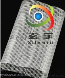 浙江工厂现货供应超透明夹网布透明格子布透明网眼布
