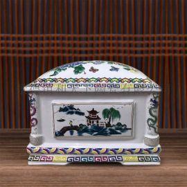 中式骨灰坛罐骨灰盒骨灰盅大号小号陶瓷**殡葬用品