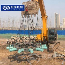 挖掘机前端吊破桩机 混凝土桩破除设备