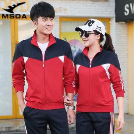 出口跨境情侣运动套装男女学生跑步休闲运动服班服校服
