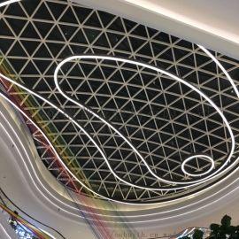 大仟理铝格栅吊顶  白色格子铝格栅 铝型材格栅吊顶