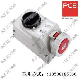 PCE工业插座 开关联锁插座 75252-6