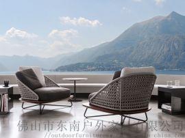 户外家具沙发创意庭院藤编桌椅沙发客厅藤编家具厂家