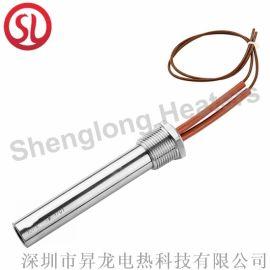 包頭耐高溫直角單頭電熱管電熱圈
