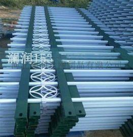 PVC绿化草坪花坛护栏 塑钢PVC草坪护栏 定制批发