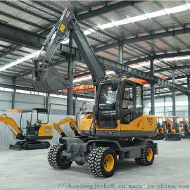 四驱轮式挖掘机 小型轮挖可定制 75小型轮挖机捷克