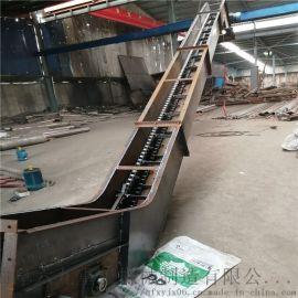 爬坡上料机 移动刮板运输机 六九重工 底部铺筑石板