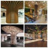 置地公馆包柱铝单板 仿木纹圆柱树叶铝单板形状