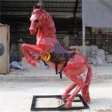 定制玻璃钢 马雕塑 仿真动物雕塑商场美陈摆件定做