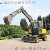 全新农用轮式挖掘机 小型轮挖  80抓木机 捷克