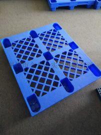 仓储货架托盘塑料平板双面塑料托盘九脚平板塑料托盘